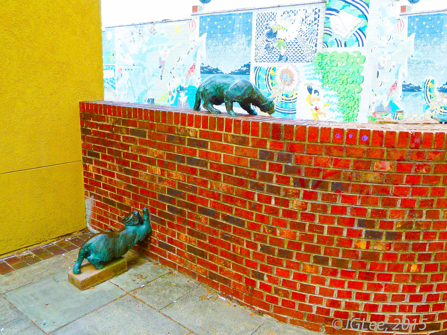 Cats on the Wall of Color