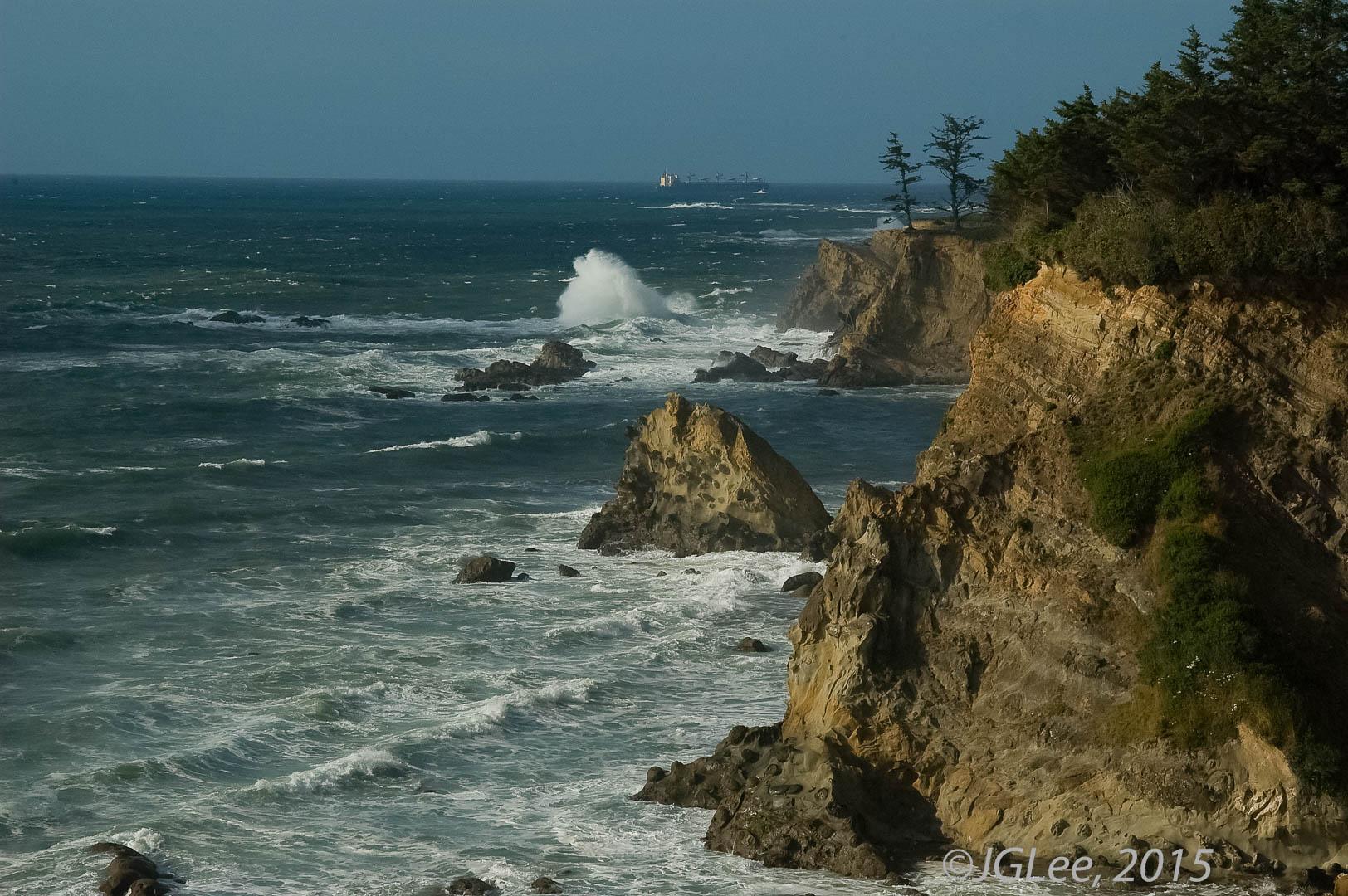 Oregon Coast and Ship